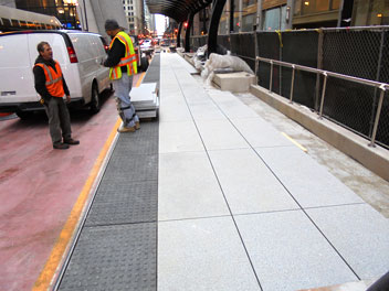 Heated Mass Transit Ramp